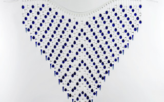 Crystal, Blue, Heart Rope